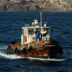 <b>Pilot boat, Mindelo, Cape Verde (ex Havendienst 7, Rotterdam)</b> | Kamera: NIKON D70s | Brennweite: 200mm | Blende: ƒ/7.1 | Verschlusszeit: 1/1000s |
