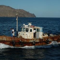 <b>Pilot boat, Mindelo, Cape Verde (ex Havendienst 7, Rotterdam)</b> | Kamera: NIKON D70s | Brennweite: 42mm | Blende: ƒ/7.1 | Verschlusszeit: 1/1600s |